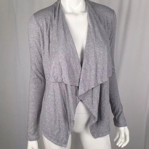 J.Crew Heathered Stretch Draped Open Front Sweater